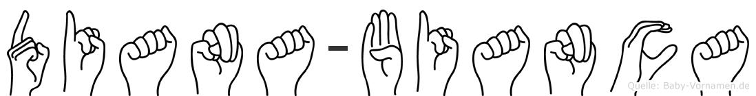 Diana-Bianca im Fingeralphabet der Deutschen Gebärdensprache