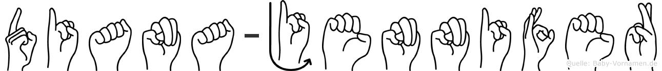Diana-Jennifer im Fingeralphabet der Deutschen Gebärdensprache
