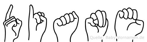 Diane in Fingersprache für Gehörlose