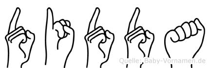 Didda im Fingeralphabet der Deutschen Gebärdensprache