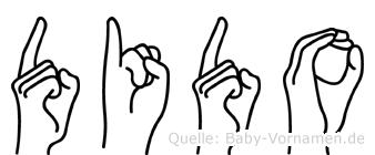 Dido in Fingersprache für Gehörlose