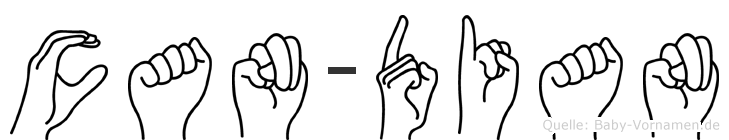 Can-Dian im Fingeralphabet der Deutschen Gebärdensprache