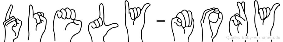 Diely-Mory im Fingeralphabet der Deutschen Gebärdensprache