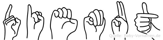Diemut in Fingersprache für Gehörlose