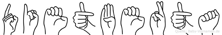 Dietberta im Fingeralphabet der Deutschen Gebärdensprache