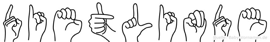 Dietlinde in Fingersprache für Gehörlose