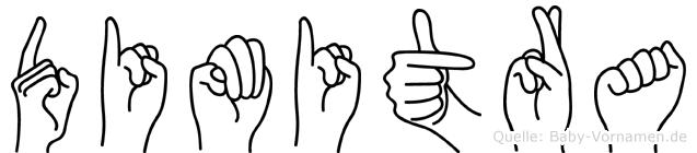 Dimitra im Fingeralphabet der Deutschen Gebärdensprache
