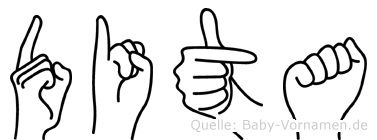 Dita in Fingersprache für Gehörlose