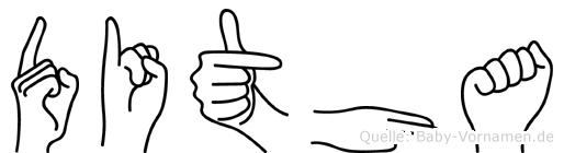 Ditha in Fingersprache für Gehörlose