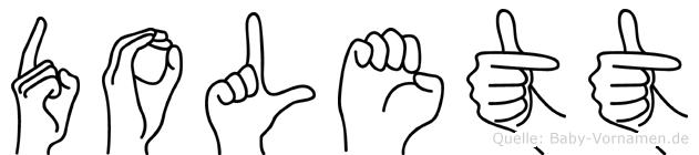 Dolett in Fingersprache für Gehörlose