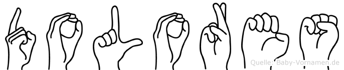 Dolores in Fingersprache für Gehörlose