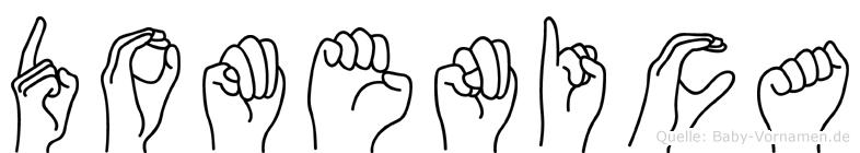 Domenica in Fingersprache für Gehörlose