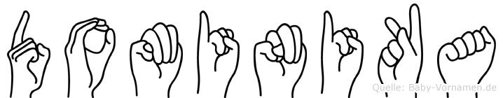Dominika im Fingeralphabet der Deutschen Gebärdensprache