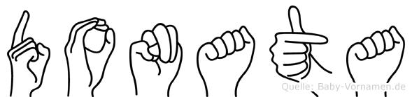 Donata im Fingeralphabet der Deutschen Gebärdensprache