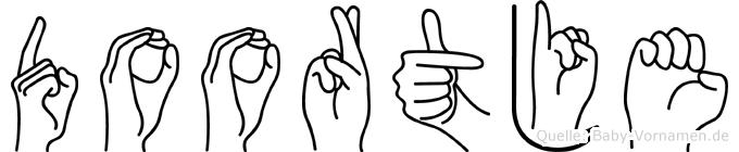 Doortje im Fingeralphabet der Deutschen Gebärdensprache