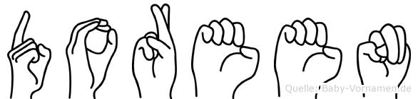 Doreen in Fingersprache für Gehörlose