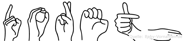 Doreth in Fingersprache für Gehörlose