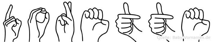Dorette in Fingersprache für Gehörlose