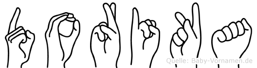 Dorika in Fingersprache für Gehörlose