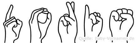 Doris in Fingersprache für Gehörlose