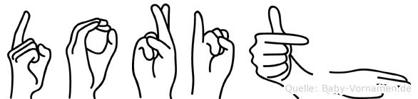 Dorith im Fingeralphabet der Deutschen Gebärdensprache
