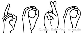 Doro im Fingeralphabet der Deutschen Gebärdensprache