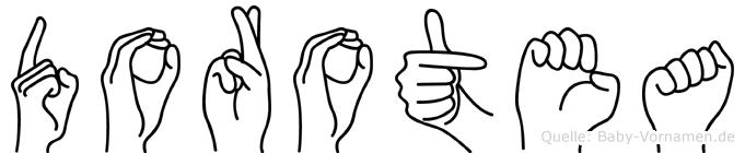 Dorotea im Fingeralphabet der Deutschen Gebärdensprache