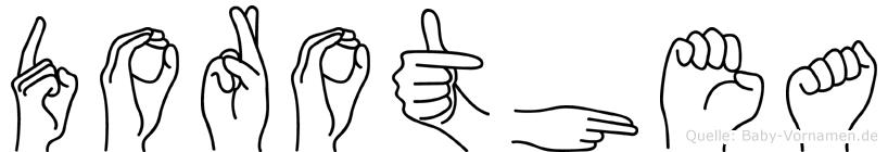 Dorothea in Fingersprache für Gehörlose