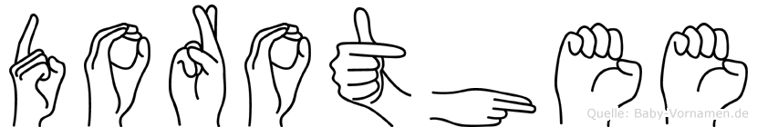 Dorothee im Fingeralphabet der Deutschen Gebärdensprache