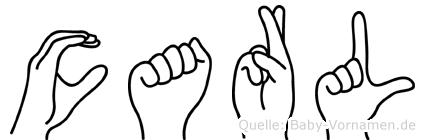 Carl in Fingersprache für Gehörlose