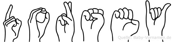 Dorsey in Fingersprache für Gehörlose