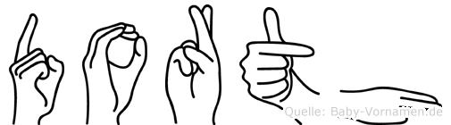 Dorth in Fingersprache für Gehörlose