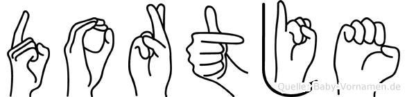 Dortje in Fingersprache für Gehörlose