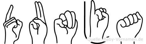 Dunja im Fingeralphabet der Deutschen Gebärdensprache