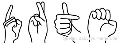 Dörte in Fingersprache für Gehörlose