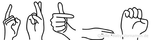Dörthe im Fingeralphabet der Deutschen Gebärdensprache
