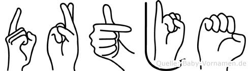 Dörtje in Fingersprache für Gehörlose
