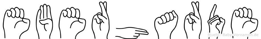 Eberharde im Fingeralphabet der Deutschen Gebärdensprache