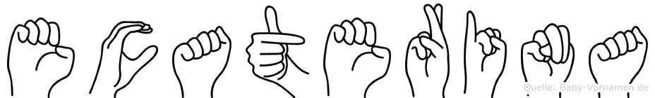 Ecaterina im Fingeralphabet der Deutschen Gebärdensprache