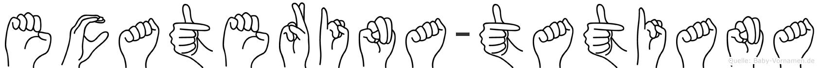 Ecaterina-Tatiana im Fingeralphabet der Deutschen Gebärdensprache
