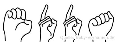 Edda in Fingersprache für Gehörlose