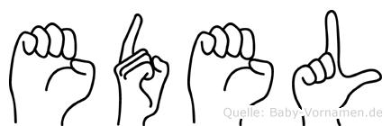Edel im Fingeralphabet der Deutschen Gebärdensprache