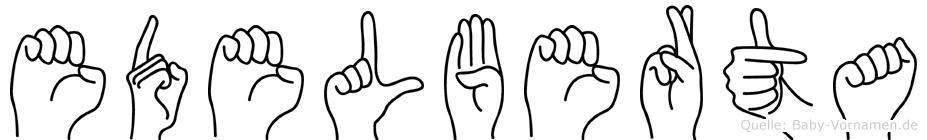 Edelberta in Fingersprache für Gehörlose