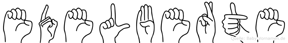Edelberte in Fingersprache für Gehörlose