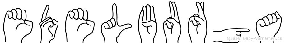 Edelburga in Fingersprache für Gehörlose