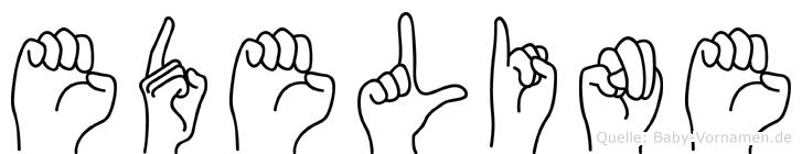 Edeline in Fingersprache für Gehörlose