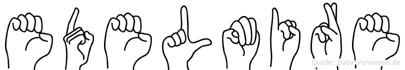Edelmire in Fingersprache für Gehörlose