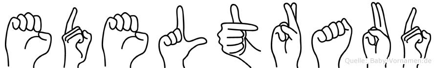 Edeltraud im Fingeralphabet der Deutschen Gebärdensprache