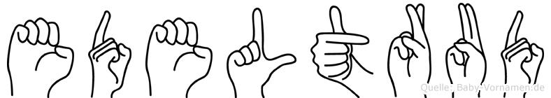 Edeltrud in Fingersprache für Gehörlose