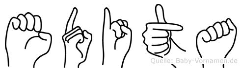 Edita in Fingersprache für Gehörlose